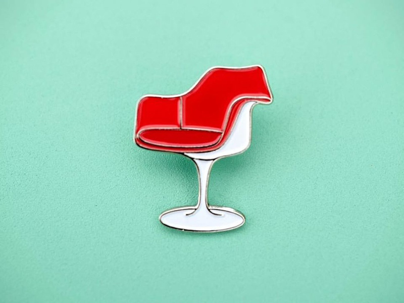 Tulip Chair enamel pin enamel pin retro chair furniture mid-century modern tulip chair saarinen