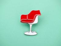 Tulip Chair enamel pin