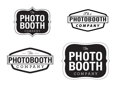 process shots logo sketch photo booth brand identity