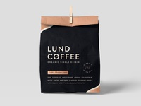 Lund coffee packaging