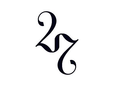 27 type handmadefont typographyart creative classy identity numbers 27 letters typography monogram logo monogram logodesign logo branding