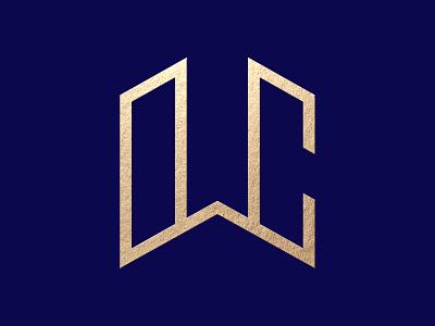 WC monogram geometric design abstatct logo abstact identity logodesign vector letters typography creative branding monogram design logo lettermark monogram letter mark monogram