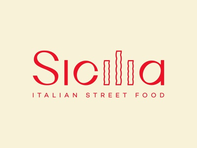 Sicilia logo creative letters graphicdesign identity designer identity typography italiano vector logotype logo branding italian restaurant italian food pasta