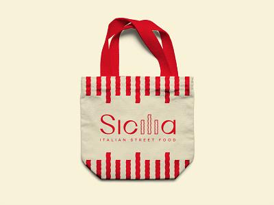 Sicilia Bag design graphicdesign italy pasta italiano bag bag design identity logotype typography creative logo branding