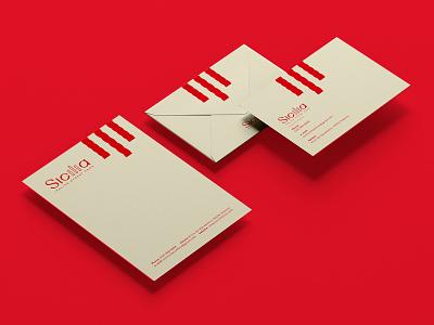 Sicilia Stationary stationary stationary design visual identity branding letters illustration graphicdesign typography envelope design letterhead design