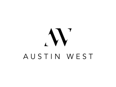 AW monogram logo design