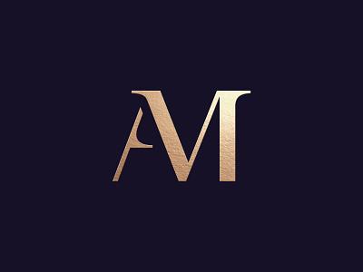 AM monogram identity graphicdesign luxury typography letters creative logotype logodesign logo branding monogram