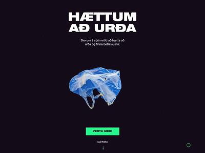 Lets find solutions jokula jökulá sign up ui design plastic storytelling interaction responsive ux ui design web design bury pollution ocean trash story animation