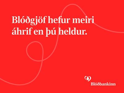 Thank you! ngo jökulá jokula red bloodbank design icon typography vector branding logo bloody blood
