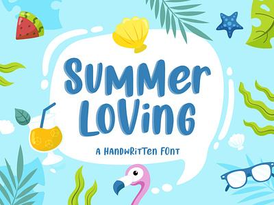 Summer Loving | A Handwritten Font bundle illustrations