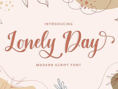 Lonely Day - Handwritten Script Font