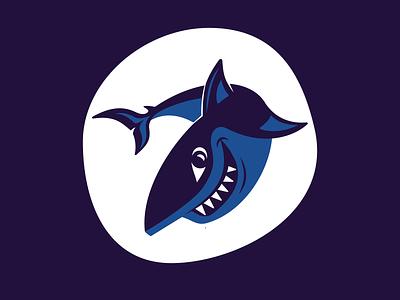 Spark Shark vector design logo branding illustration