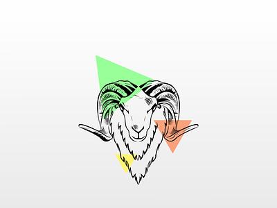 Garut Sheep animals animal linework line lineart minimal illustration vector design branding logo