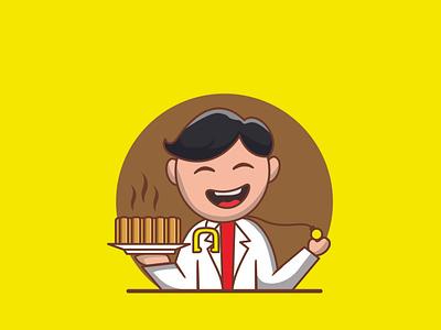 Doctor cake doctor bread logo cake logo bread cake illustration vector branding design logo