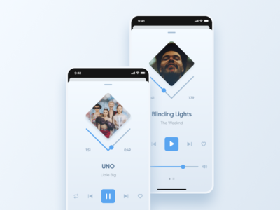 Music player concept design ux ui music player iphone ios app music player