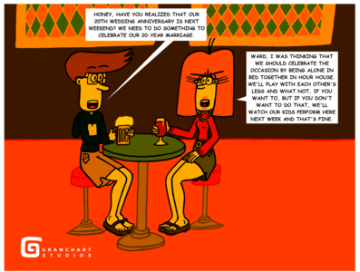 Changes In Life Pt. 2 - (Page 22) Sitting With Drinks Together wine beer duo couple lady gentleman woman man man and woman married couple wife husband husband and wife