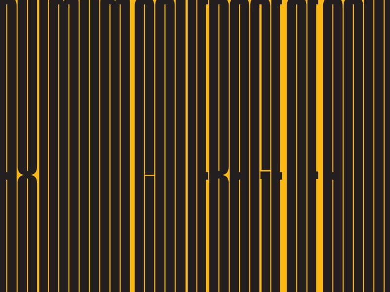 The World's Tallest Typeface tallest tall cinderblock new ywft font typeface 2015