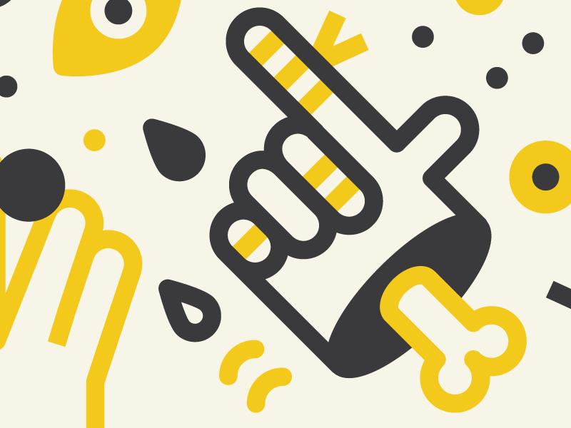 Basicons: Hands illustration vectors people finger gang hands emoji icon