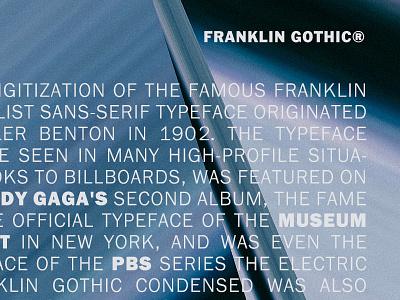 Franklin Gothic 1900s benton classic lettering b urw typeface font