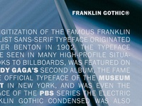 Franklin Gothic 1900s benton classic lettering b urw typeface font