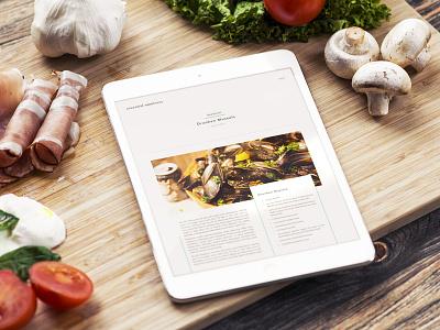 Essential Omnivore Blog blog recipe site sketch animation cookbook web principle design ui food