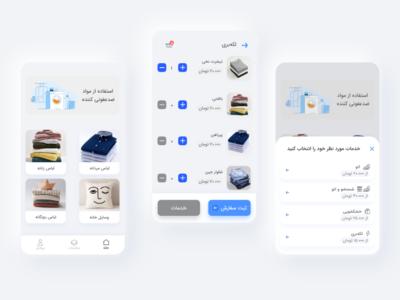 Laundry app concept concept mobile app design ui