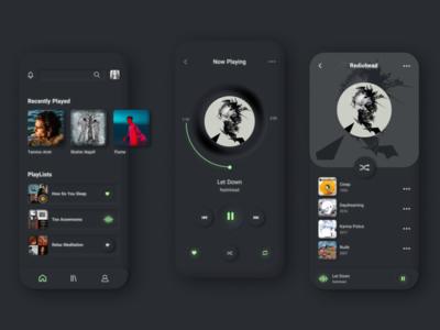 Music app concept ux ui design mobile app design