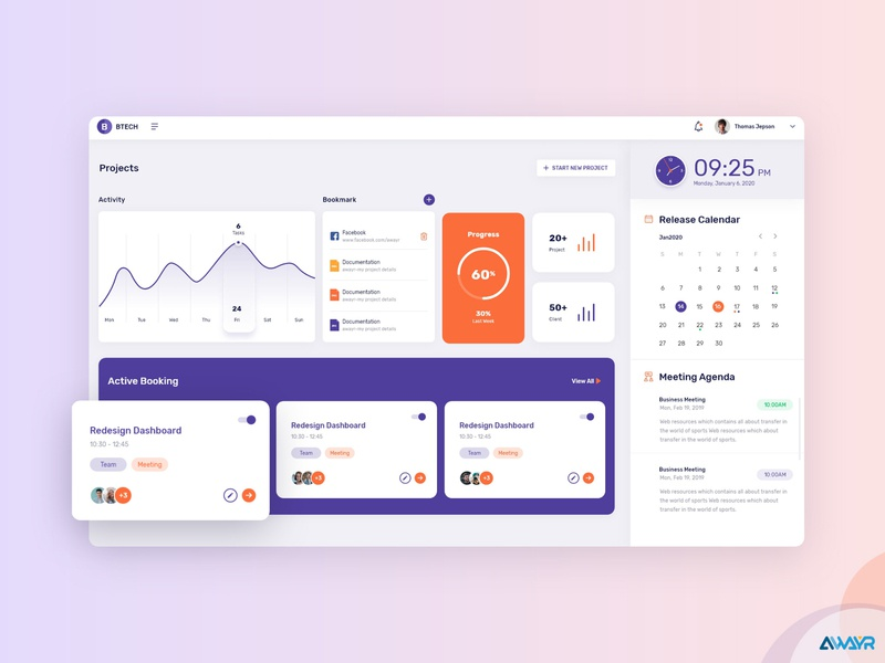 A Slick Project Management Dashboard