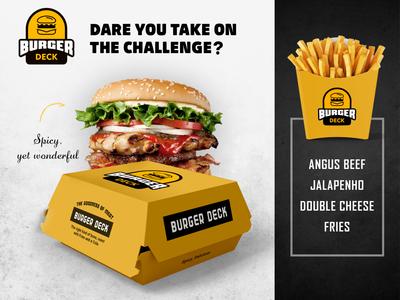 BurgerDeck mockup illustration vector logo burger logo logo design fastfood burger flyer cheese bread branding design