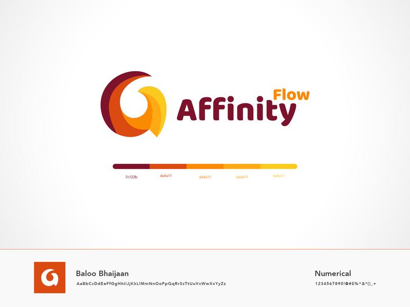 Affinity Flow Logo branding design icons uiux ui  ux flat design ui design typogaphy logo branding illustraion minimal logodesign vector flat logo design