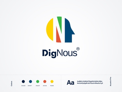 DigNous Logo 🎨 minimalist logo flatdesign iconography vector branding typography ui logo icons flat design
