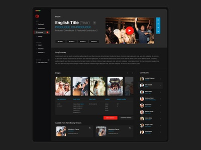 Social Media Movie Web App details video tv music app mac menu flat design design movie app app