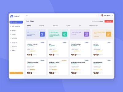 Project Management Dashboard web app design app design managment projects logo flat design icons interface dashboard design