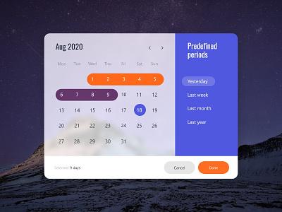 Calendar Concept Widget design application schedule event app design concept calendar app