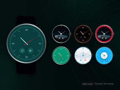 Stopwatch Theme Designs flatdesign simple ui smartwatch clock deigns theme stopwatch