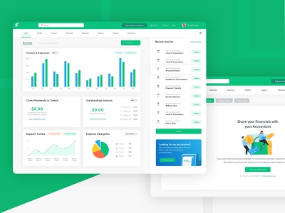 Invoice and Payment Service Dashobard activity payments clients graphs digital analytics invoice management business chart dashboad statistic