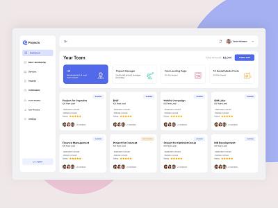Project Management Dashboard flat design clean tasks ui webapp calendar manage project dashboard