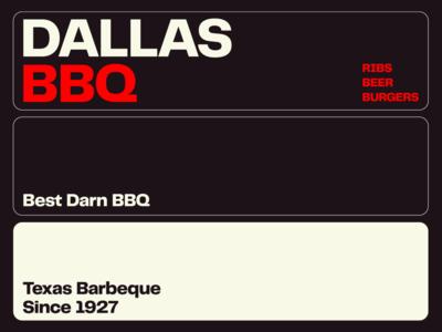 DALLAS BBQ - Visual Identity System