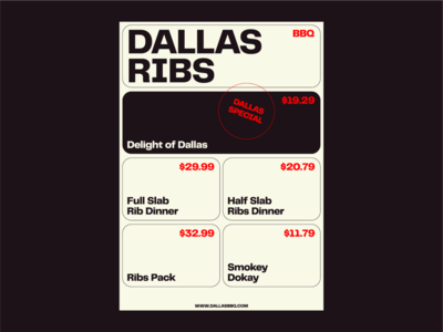 DALLAS RIBS - BBQ Menu