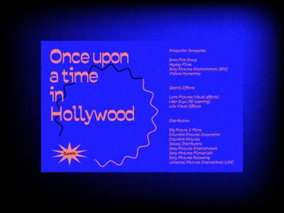 Hollywood Poster - Quentin Tarantino
