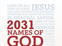 Book Cover: 2031 Names of God book print christian