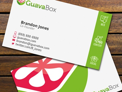 Guavabox Business Cards v2 print branding business cards