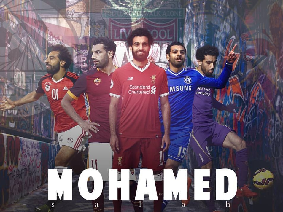 Mohamed Salah poster art poster photoshop manipulation graphicdesign graphic design creative covers cover design cover england egyptian egypt cover artwork edit mohamed liverpool fc liverpool salah