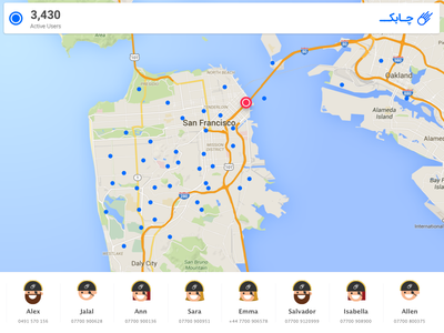 Chabok Push real-time map real-time demo captain map
