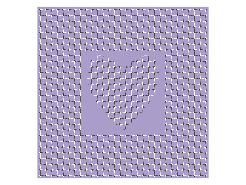 A Heart With Optical Illusion illusion ornamental ornament optical illusion nimble moving movable mothers day love levitate illustration hover heart grid glide geometrical geometric design agile abstract