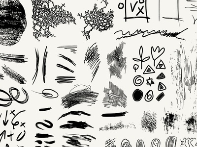 Scribble Set template design design template template brush strokes hatching hand drawn ink design elements set scribbles scribble vector surfacedesign design print illustration