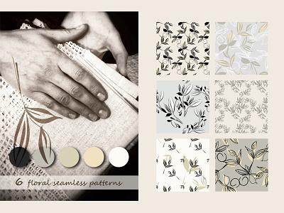 6 Floral Seamless Pattern floral pattern floral design vector seamless pattern seamlesspattern textile ornament surface pattern design surfacedesign pattern design print illustration