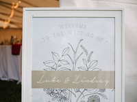 L&L Entry Sign - wedding