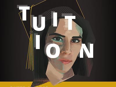 Graduate Illustration typography texture graduate college gouache editorial illustration digital art portrait illustration