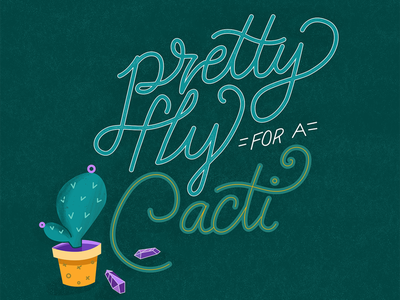 Pretty Fly hand lettered lettering quote lyrics music offspring crystals gems cactus cacti nostalgia 90s
